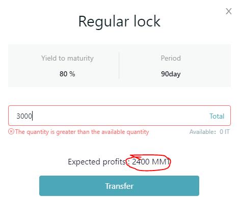 Tiến hành lock coin